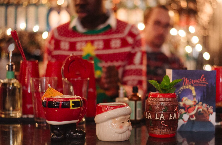 pop up bar, christmas, holiday, charity cause, montreal children hospital foundation